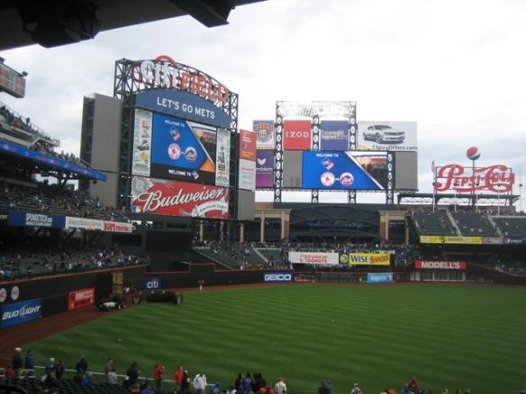The new scoreboard and screen