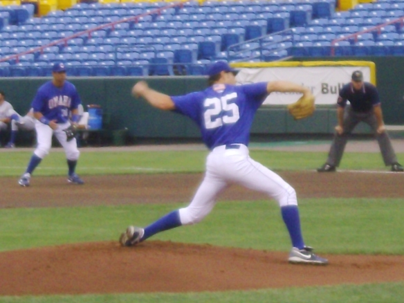 Pitching six shutout innings on July 29. Photo by me.