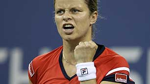 After defeating Wozniacki 7-5 and 6-3, Kim Clijsters won the US Open for the ladies, just a month after coming out of retirement. Way to go, mama!