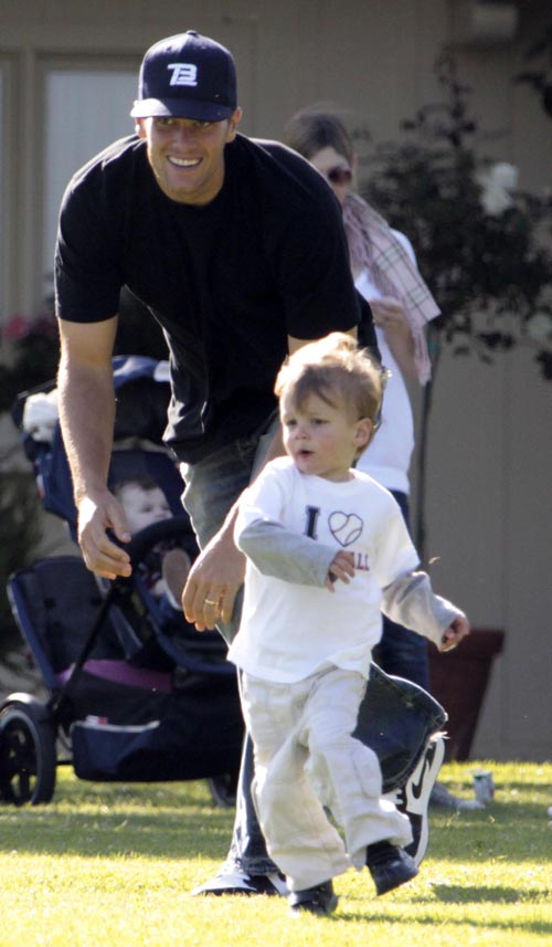 I cannot stand Tom Brady, but he sure does have a cute son!