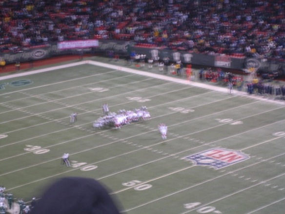 Sorry that it's blurry, but this is Lindell moments before he kicked the game into overtime with a MISS. I did not photograph the winning kick for fear of jinxing him.