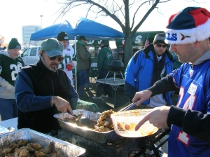 Sadly not my photo. Just wanted to show that Bills and Jets fans can indeed live and drink in harmony and peace. Image courtesty 18btailgate.