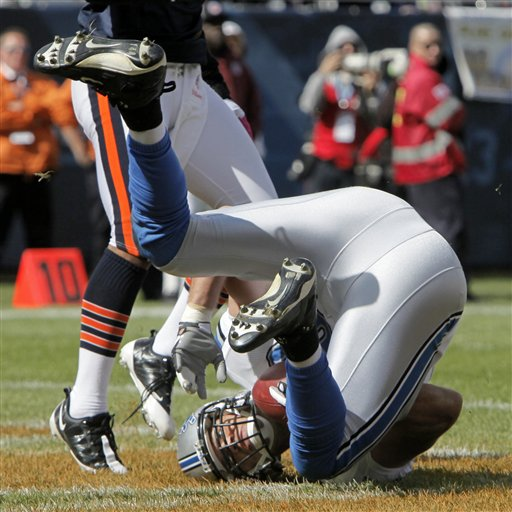 Bears 48, Lions 24 (oh my). Here's Will Heller's booty.