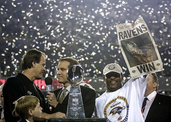 Super Bowl XXXV - Postgame